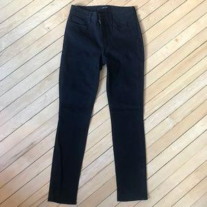 J Brand Skinny Leg Shadow Black Jeans